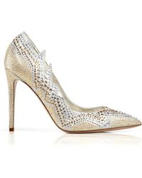 Le Silla Pointed Toe Evening Pumps - Crystal High Heel - Lyst