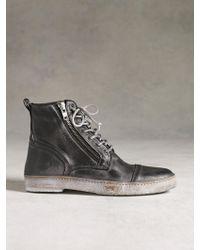 John Varvatos Side Zip Sneaker Boot - Lyst