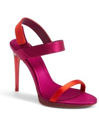 Burberry 'Calcoat' Sandal red - Lyst