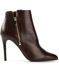 Lanvin Red Ankle Boots - Lyst