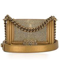 Madison Avenue Couture - Chanel Metallic Stingray Calfskin Mini Boy Bag - Lyst