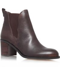 Sam Edelman Brown Justin Leather Ankle Boots - Lyst