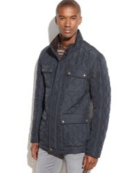 Vince Camuto Quilted Four-pocket Field Coat - Lyst