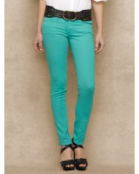 Ralph Lauren Blue Label Courtland Colored Skinny Jean - Lyst