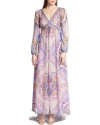 Emilio Pucci Printed Silk Chiffon Gown - Lyst