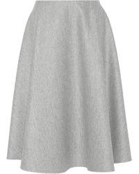 The Row Nisha Wool Midi Skirt - Lyst
