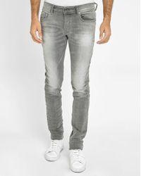 DIESEL | Grey Sleenker Skinny Jeans | Lyst