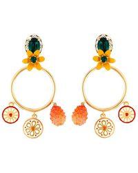 Dolce & Gabbana | Charm Pendant Hoop Clip-on Earrings | Lyst