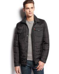 Levi's Suede Trim Western Shirt Jacket - Lyst
