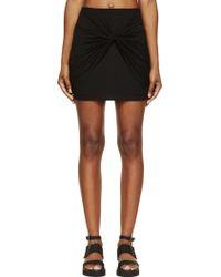 Helmut Lang Black Jersey Slack Twist Short Skirt - Lyst