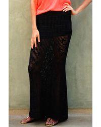 Goddis Tati Knit Maxi Skirt - Lyst