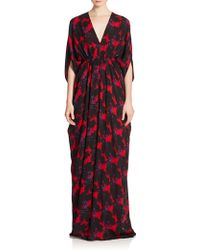 Issa | Abstract-print Caftan Gown | Lyst