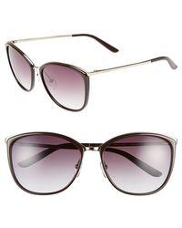 Max Mara Women'S 'Classy I/S' 58Mm Retro Sunglasses - Gold/ Burgundy - Lyst