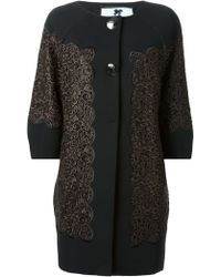 Blumarine Lace Embroidery Coat - Lyst