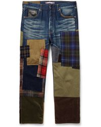 Junya Watanabe Regularfit Patchwork Jeans - Lyst