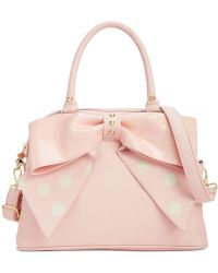 Betsey Johnson Macys Exclusive Dome Satchel - Lyst