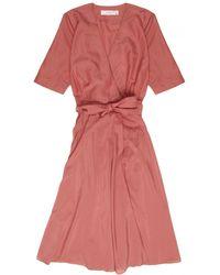 La Robe | Rose Voile Dress In Rose | Lyst