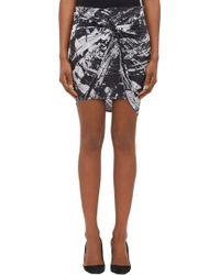 Helmut Lang Twist-Front Skirt - Lyst