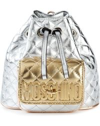Moschino Quilted Mini Backpack - Lyst