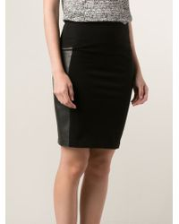 Getting Back to Square One - Leather Panel Skirt - Lyst
