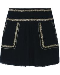 Étoile Isabel Marant   Vittoria Skirt Black   Lyst