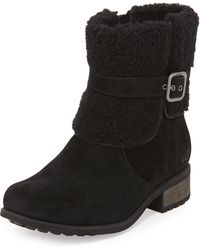 Ugg Blayre Ii Foldover Cuff Suede Boot - Lyst