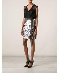Blumarine Leopard Print Zip Skirt - Lyst
