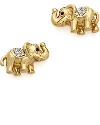 Juicy Couture - Pave Elephant Stud Earrings Gold - Lyst