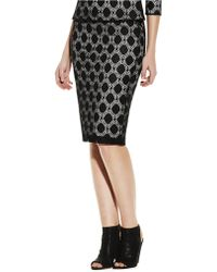 Vince Camuto Dot Lace Pencil Skirt - Lyst