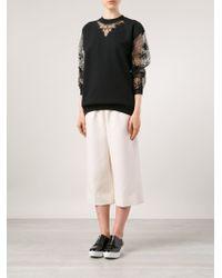 Alexis Mabille - Floral-Detail Cotton-Blend Sweatshirt - Lyst