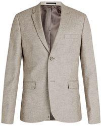 Topman Stone Skinny Fit Blazer - Lyst