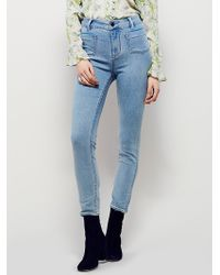 Free People | Womens Beverely High Rise Skinny | Lyst