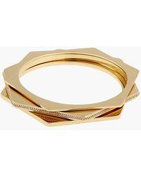 Rachel Zoe Women'S 'Gavriel' Hexagon Bangles - Gold (Set Of 3) - Lyst
