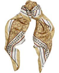 Alessandra Rich Printed Silk Scarf - Lyst