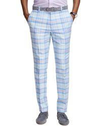 Brooks Brothers Milano Fit Plaid Pants - Lyst