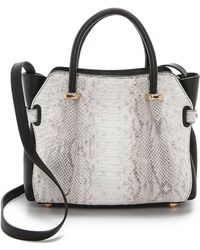Nina Ricci Python Mini Handbag Ivoryblack - Lyst