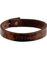 Diesel Brown Amisto Bracelet - Lyst