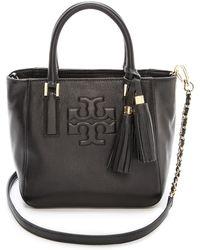 Tory Burch Thea Mini Bucket Bag Black - Lyst