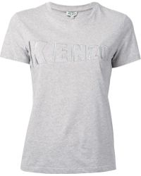 Kenzo Embroidered Logo T-Shirt - Lyst
