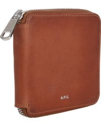 A.P.C. Ziparound Wallet - Lyst