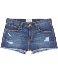 Current/Elliott | 'the Boyfriendtm' Distressed Rip Frayed Shorts | Lyst
