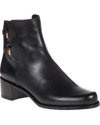 Stuart Weitzman Subdue Ankle Boot Black Leather - Lyst