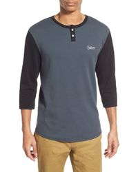Volcom | Thermal Stretch-Cotton Henley | Lyst