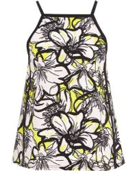 River Island Yellow Floral Print Square Cami - Lyst