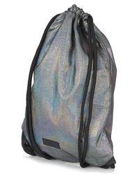 Topshop Shimmer Drawstring Backpack - Lyst