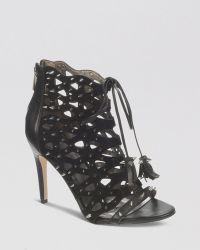Sam Edelman Open Toe Caged Studded Ghillie Sandals - Allison High Heel - Lyst