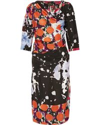 Vivienne Westwood Anglomania Printed Satin-Crepe Dress - Lyst