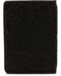 Whiting & Davis Passport Cover - Black - Lyst
