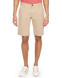 Boss Orange Schino  Regular Fit Cotton Casual Shorts - Lyst