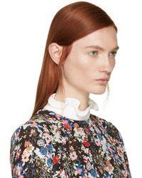 Erdem - White Ruffled Collar - Lyst